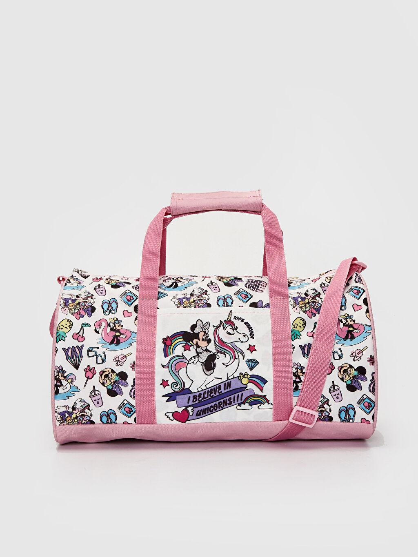 Çok Renkli Kız Çocuk Minnie Mouse Baskılı Spor Çanta 0SG104Z4 LC Waikiki