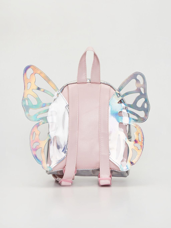 Kız Çocuk Kanat Detaylı Hologram Sırt Çantası