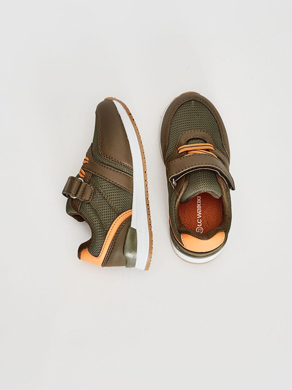 %0 Diğer malzeme (pvc) %0 Tekstil malzemeleri (%100 poliester)  Erkek Çocuk Cırt Cırtlı Günlük Ayakkabı