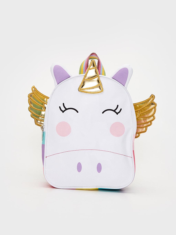 Beyaz Kız Çocuk 3 Boyutlu Unicorn Sırt Çantası 0SG446Z4 LC Waikiki