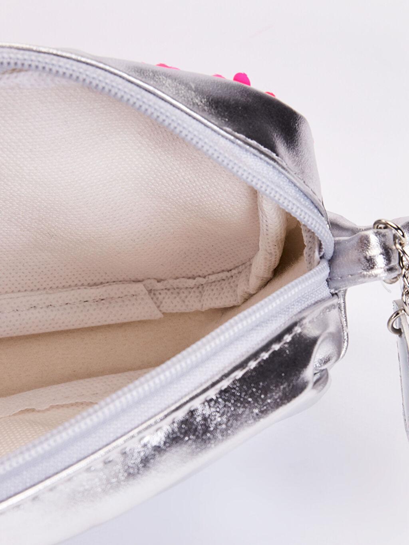 %100 Polyester Kız Çocuk Pul Payetli Parlak Omuz Çantası