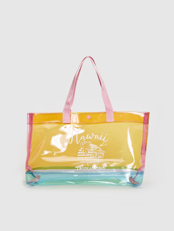Çok Renkli Baskı Detaylı Renkli Şeffaf Kol Çantası 0SG467Z4 LC Waikiki