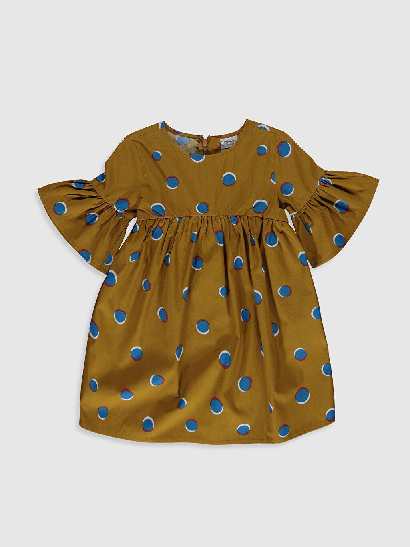 Haki Kız Çocuk Puantiyeli Elbise 0SG491Z4 LC Waikiki