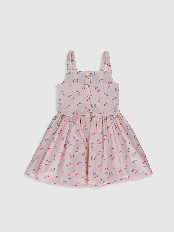 Ekru Kız Çocuk Düğme Detaylı Elbise 0SG501Z4 LC Waikiki