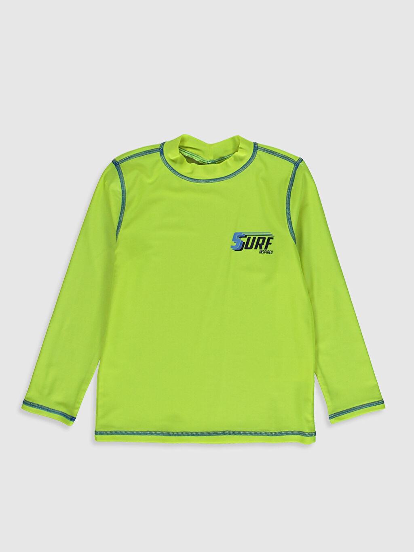 Yeşil Erkek Çocuk Baskılı Yüzme Tişört 0SG803Z4 LC Waikiki