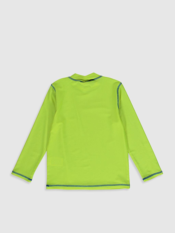 %80 Polyester %20 Elastan  Erkek Çocuk Baskılı Yüzme Tişört