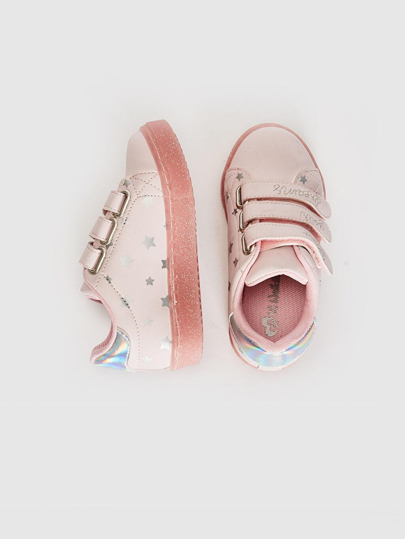 %0 Diğer malzeme (pvc)  Kız Çocuk Hologram Detay Cırt Cırtlı Günlük Ayakkabı