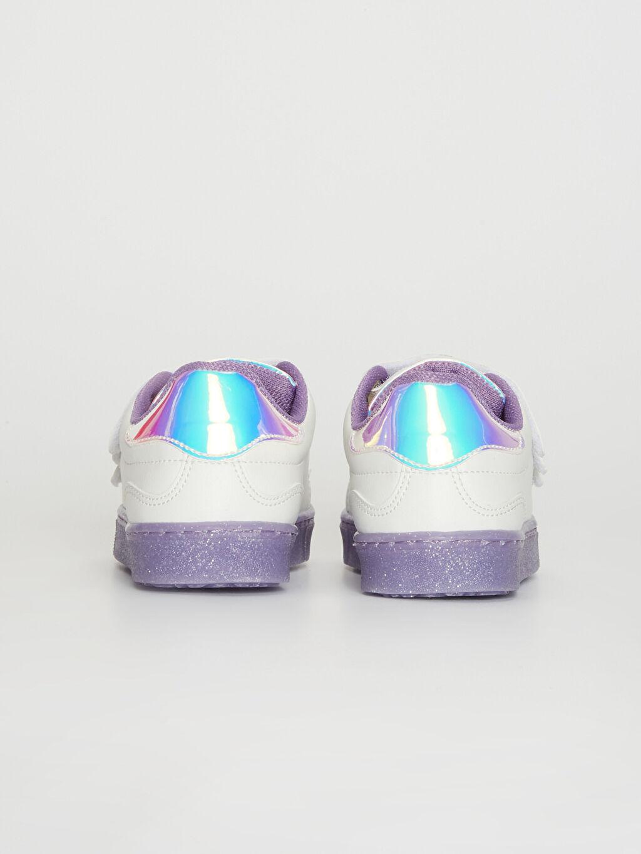 Kız Çocuk Hologram Detay Cırt Cırtlı Günlük Ayakkabı