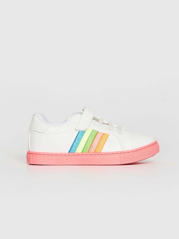Beyaz Kız Çocuk Cırt Cırtlı Günlük Ayakkabı 0SH839Z4 LC Waikiki