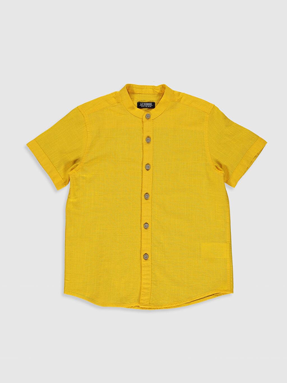 Turuncu Erkek Çocuk Kısa Kollu Poplin Gömlek 0SH890Z4 LC Waikiki