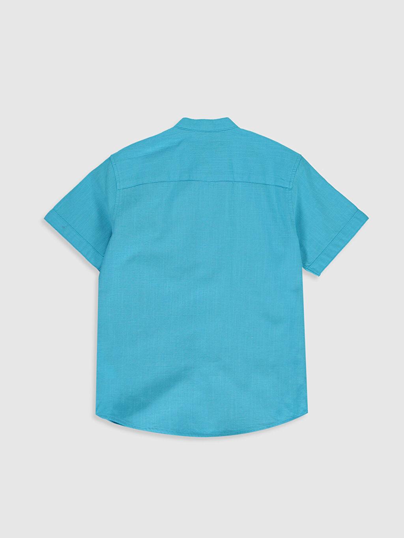 %100 Pamuk Standart Düz Kısa Kol Erkek Çocuk Kısa Kollu Poplin Gömlek