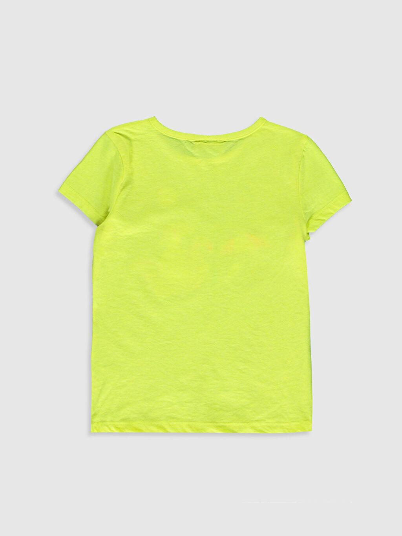 %51 Pamuk %49 Polyester Standart Baskılı Tişört Bisiklet Yaka Kısa Kol Kız Çocuk Baskılı Kısa Kollu Tişört