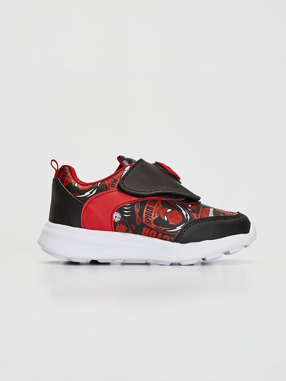 Siyah Erkek Çocuk Spiderman Baskılı Günlük Spor Ayakkabı 0SI080Z4 LC Waikiki