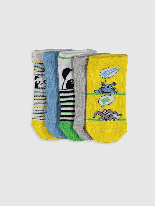 Çok Renkli Erkek Çocuk Patik Çorap 5'li 0SI211Z4 LC Waikiki