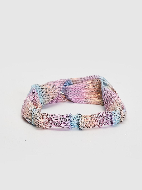 %100 Polyester  Kız Çocuk Düğüm Detaylı Saç Bandı