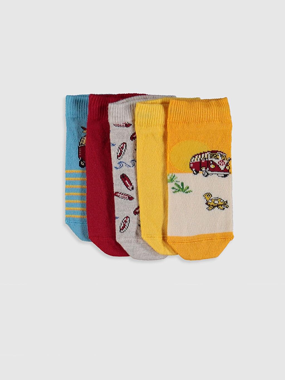 Çok Renkli Erkek Çocuk Patik Çorap 5'li 0SI345Z4 LC Waikiki