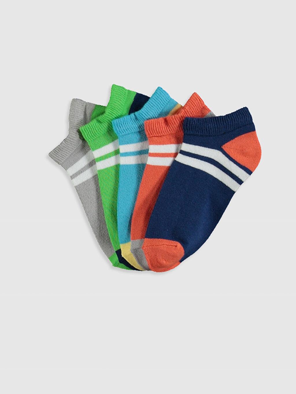 Çok Renkli Erkek Çocuk Patik Çorap 5'li 0SI349Z4 LC Waikiki