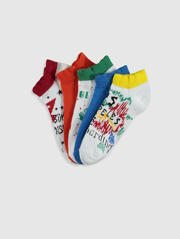 Çok Renkli Erkek Çocuk Patik Çorap 5'li 0SI352Z4 LC Waikiki