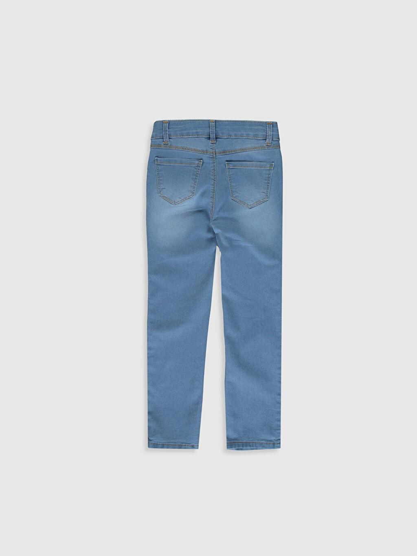 %79 Pamuk %19 Polyester %2 Elastan Normal Bel Standart Kız Çocuk Slim Jean Pantolon