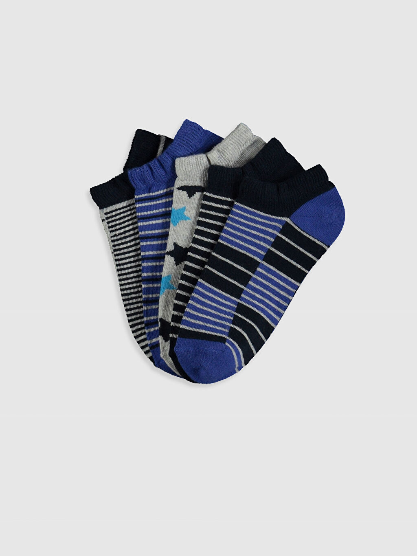 Çok Renkli Erkek Çocuk Patik Çorap 5'li 0SI766Z4 LC Waikiki