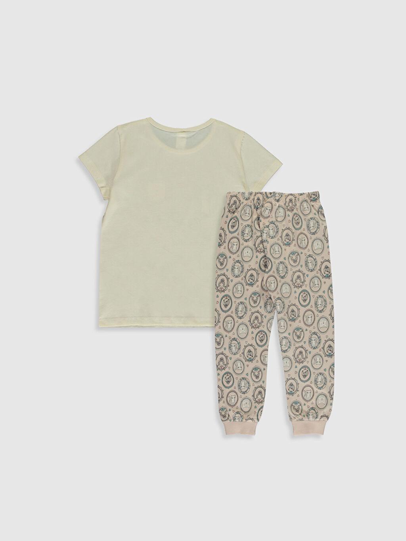 %100 Pamuk Standart Pijamalar Kız Çocuk Baskılı Organik Pamuklu Pijama Takımı
