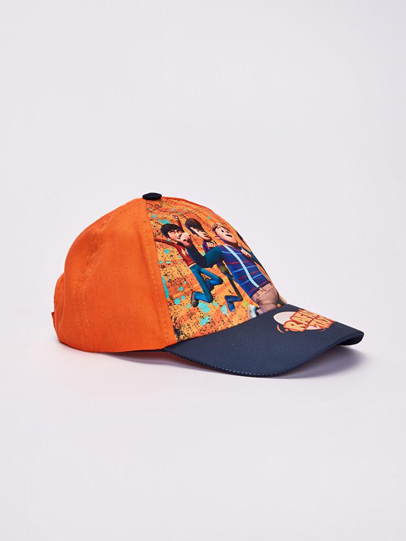 Turuncu Erkek Çocuk Rafadan Tayfa Baskılı Şapka 0SJ086Z4 LC Waikiki