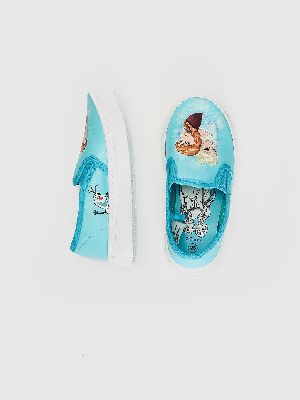 %0 Diğer malzeme (pvc)  Kız Çocuk Frozen Baskılı Günlük Spor Ayakkabı