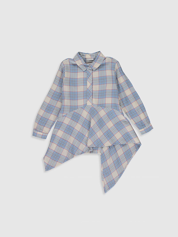 Mavi Kız Çocuk Ekose Gömlek 0SJ645Z4 LC Waikiki