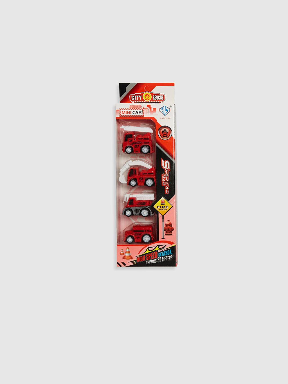 Kırmızı Oyuncak 4'lü Kamyon Set 0SJ776Z4 LC Waikiki
