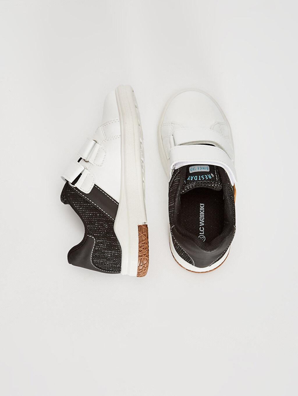 %0 Diğer malzeme (pvc) %0 Tekstil malzemeleri (%100 poliester)  Erkek Çocuk Cırt Cırtlı Günlük Spor Ayakkabı