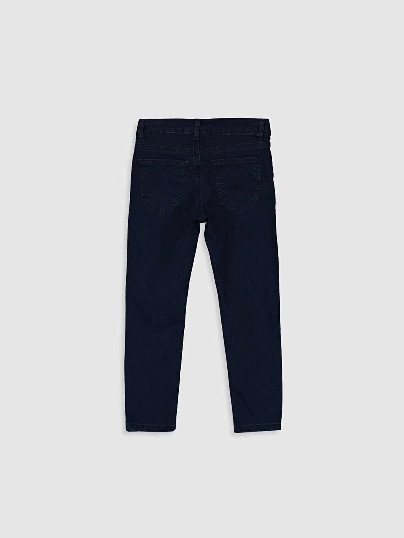 %76 Pamuk %21 Polyester %3 Elastan Normal Bel Dar Erkek Çocuk Skinny Jean Pantolon