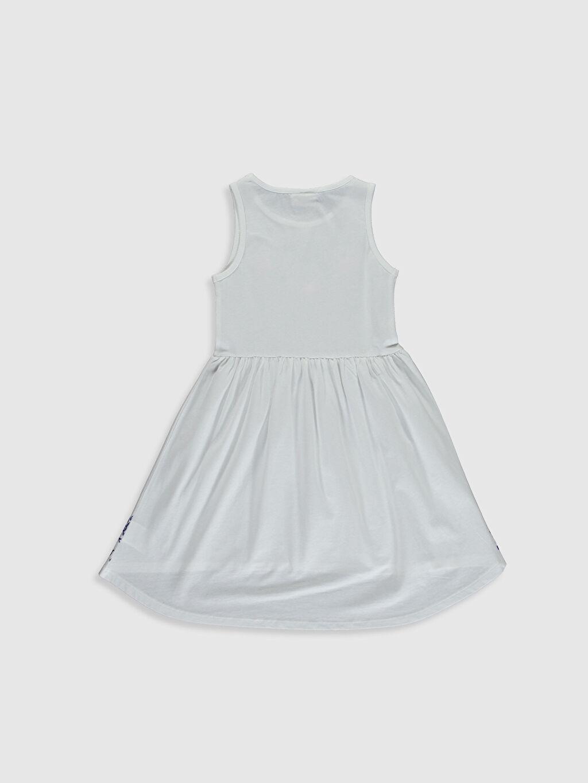 %100 Pamuk Diz Altı Desenli Kız Çocuk Desenli Pamuklu Elbise