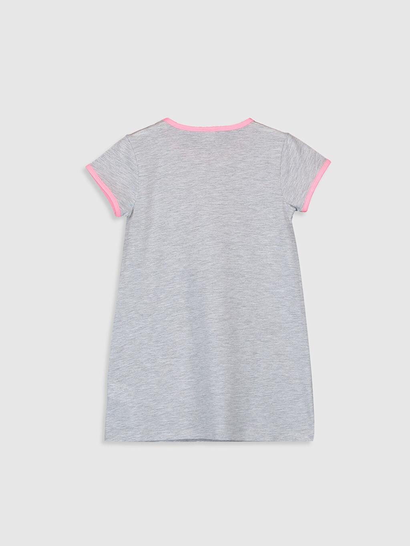 %49 Pamuk %51 Polyester Standart Pijamalar Kız Çocuk Unicorn Baskılı Gecelik