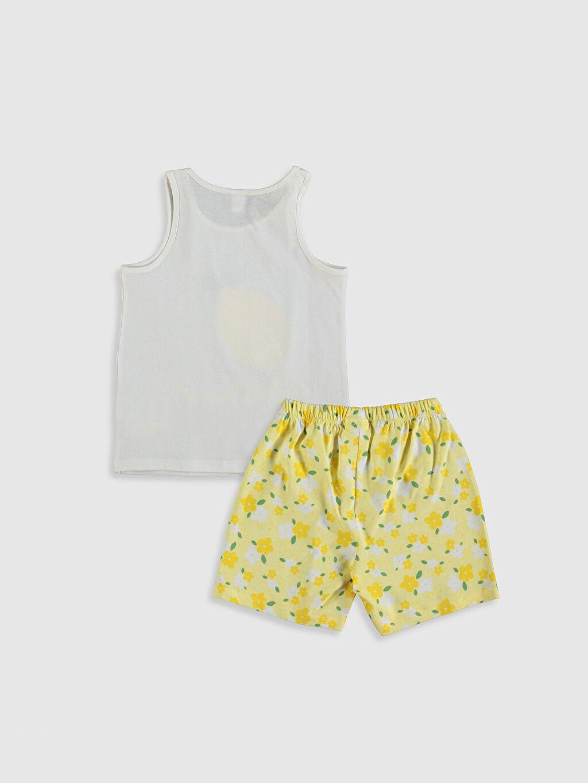 %100 Pamuk Standart Pijamalar Kız Çocuk Baskılı Pijama Takımı