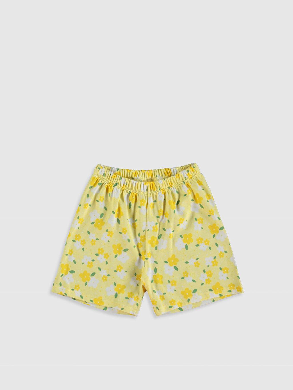 %100 Pamuk Kız Çocuk Baskılı Pijama Takımı