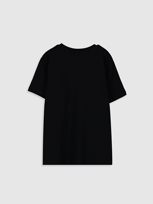 %100 Pamuk Normal Bisiklet Yaka Baskılı Tişört Kısa Kol Erkek Çocuk Atatürk İmzalı Pamuklu Tişört