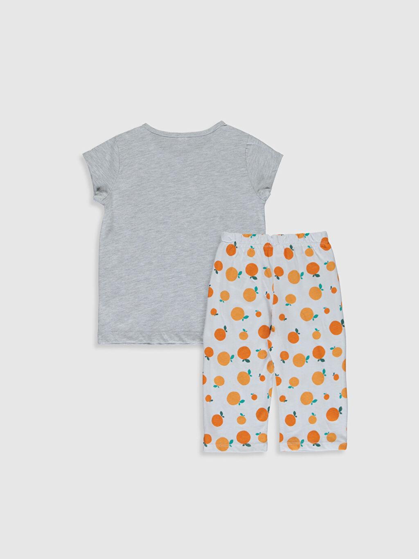 %50 Pamuk %50 Polyester Standart Pijamalar Kız Çocuk Baskılı Pijama Takımı