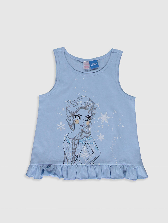 Kız Çocuk Kız Çocuk Elsa Baskılı Pamuklu Pijama Takımı