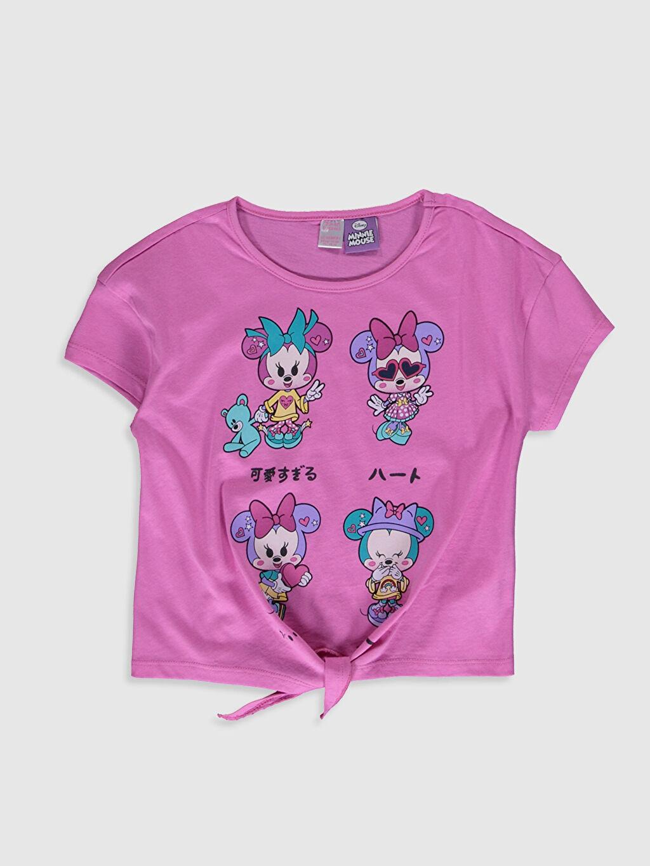 Kız Çocuk Kız Çocuk Minnie Mouse Baskılı Pamuklu Pijama Takımı