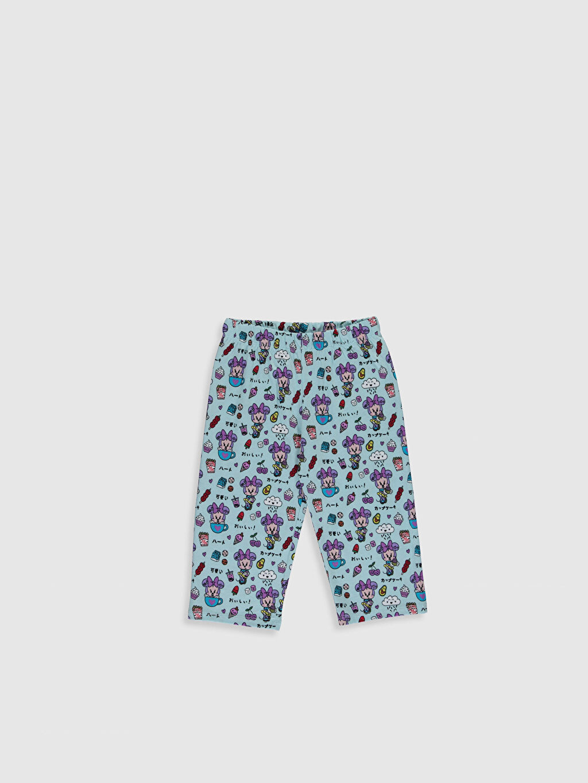 %70 Pamuk %30 Polyester Kız Çocuk Minnie Mouse Baskılı Pijama Takımı
