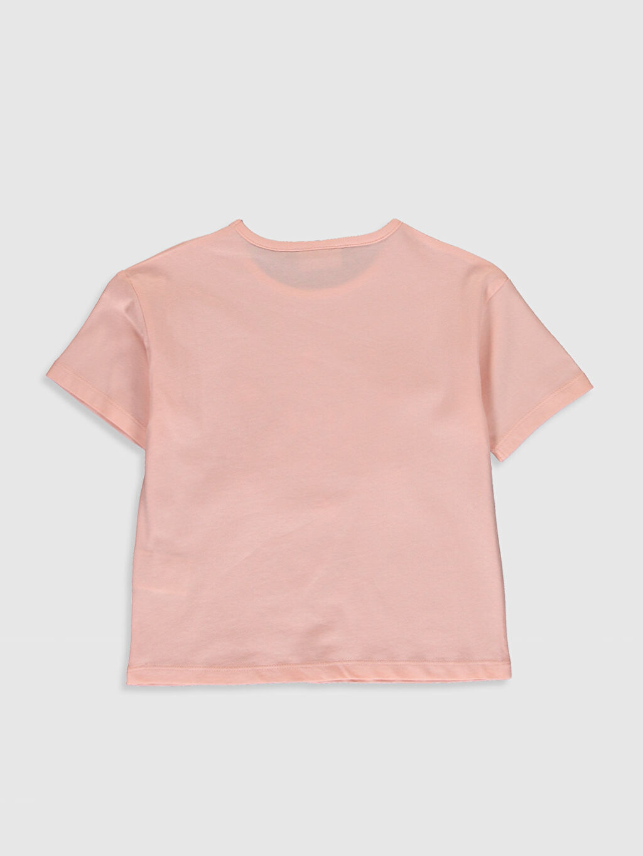 %100 Pamuk Standart Baskılı Tişört Bisiklet Yaka Kısa Kol Kız Çocuk Baskılı Pamuklu Tişört