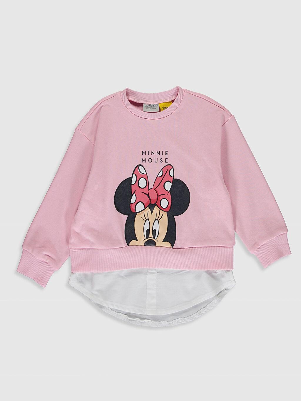 Pembe Kız Çocuk Minnie Mouse Baskılı Sweatshirt 0SK601Z4 LC Waikiki