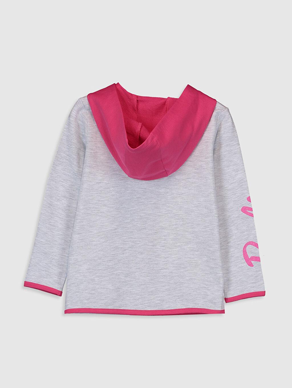 %80 Pamuk %20 Polyester  Kız Çocuk Barbie Baskılı Fermuarlı Sweatshirt
