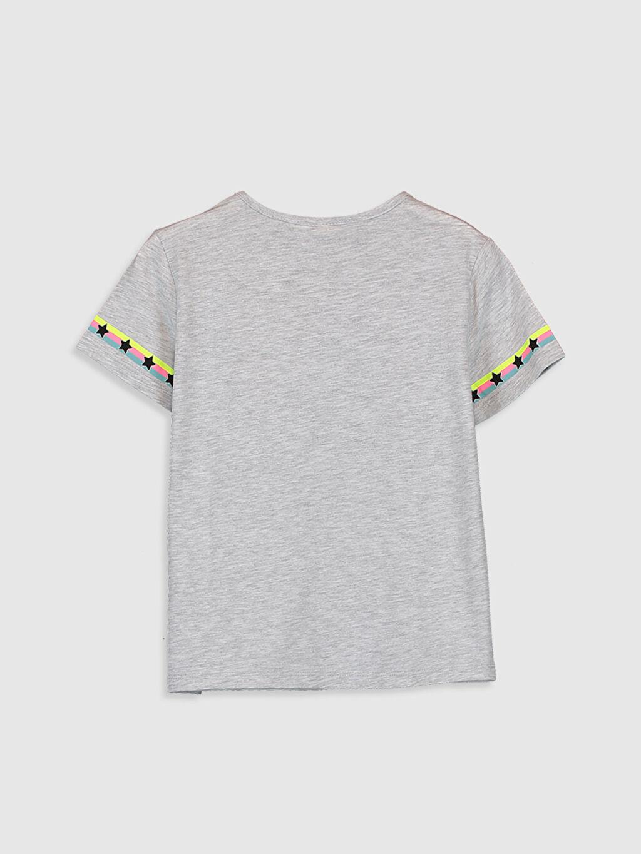 %50 Pamuk %50 Polyester Standart Baskılı Tişört Bisiklet Yaka Kısa Kol Kız Çocuk Baskılı Pamuklu Tişört