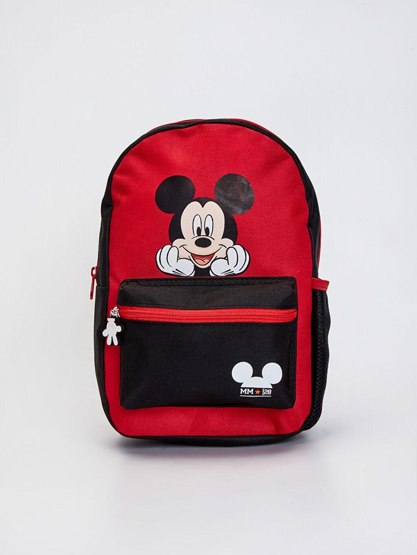 Siyah Erkek Çocuk Mickey Mouse Lisanslı Sırt Çantası 0SK683Z4 LC Waikiki