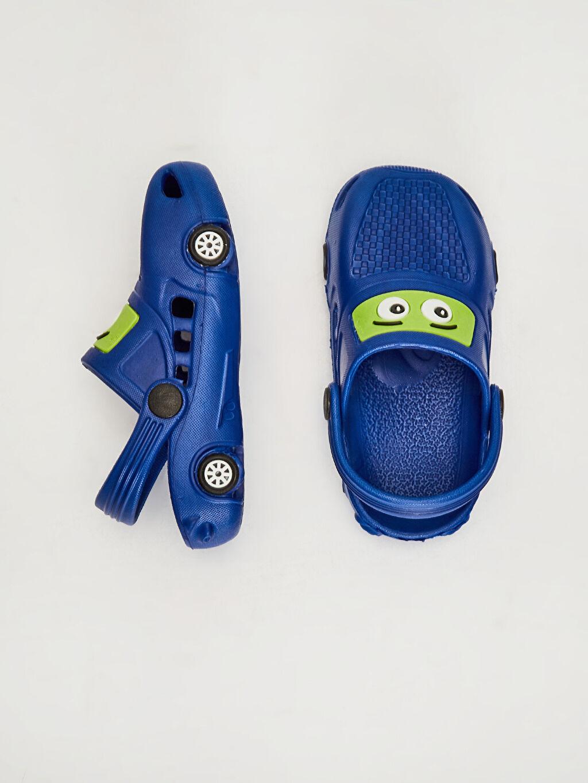 Diğer malzeme (eva)  Erkek Çocuk Araba Silüetli Terlik Sandalet