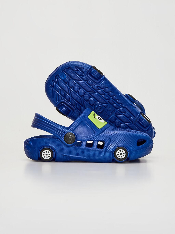 Erkek Çocuk Erkek Çocuk Araba Silüetli Terlik Sandalet