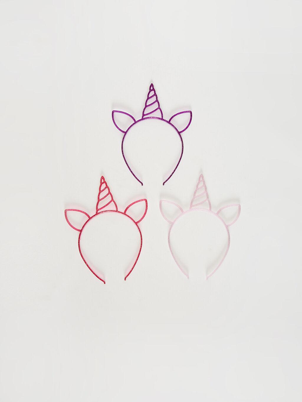 Çok Renkli Kız Çocuk Unicorn Taç 3'lü 0SL232Z4 LC Waikiki