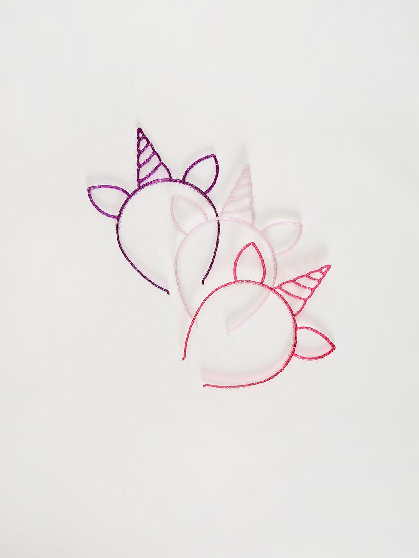 Plastik  Kız Çocuk Unicorn Taç 3'lü