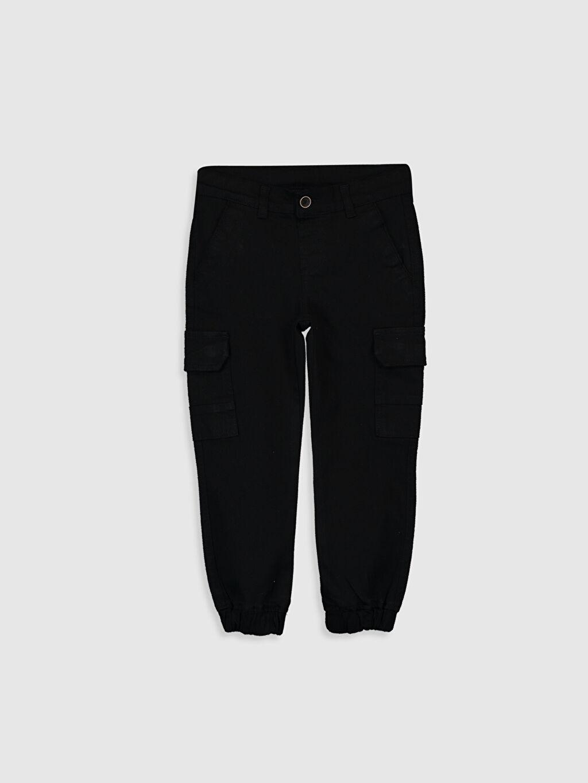 Siyah Erkek Çocuk Jogger Pantolon 0SL627Z4 LC Waikiki